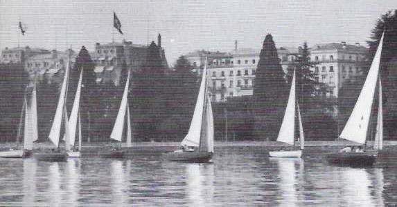 voiliers devant le Beau-Rivage Palace Lausanne