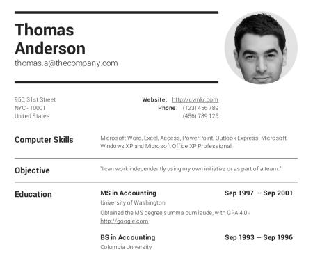 Resume Online Free Download