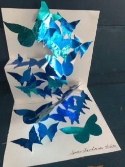 Susan Sandman: Butterflies 2, paper sculpture (3/16/21)
