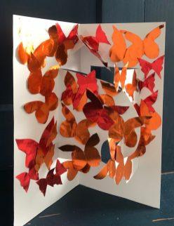 Susan Sandman: Butterflies 3, paper sculpture (3/18/21)