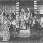 """Заключительная сцена из спектакля """"Аленький цветочек"""", 1947 г."""