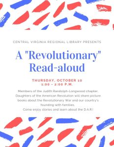 """Revolutionary"" Read-Aloud @ Farmville Branch"