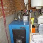Installatie verwarmingsketel op gas