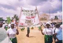 Liberian women on advocacy campaign
