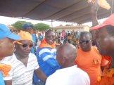 ANC en orange avec le responsable GERARD ADJA EN BLEU