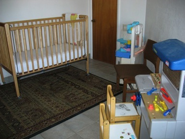 play room with crib