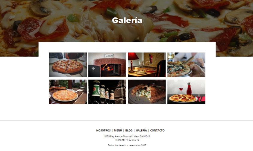 pizzeria galeria comidas