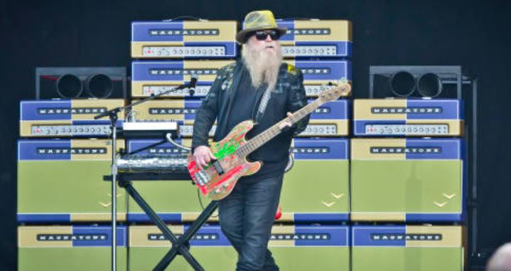 Dusty Hill, ZZTop. Getty Images