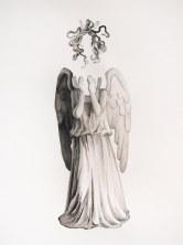 Look, Don't Look (detail), watercolor, 2014
