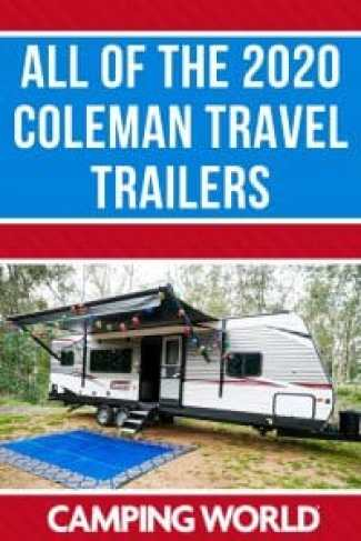 All of the 2020 Coleman travel trailers