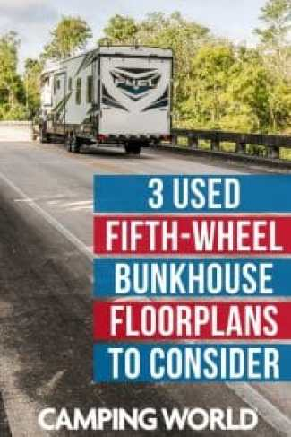 3 used fifth-wheel bunk house floorplans to consider