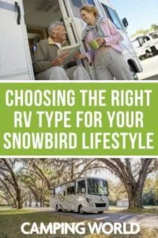 Choosing the right RV type for your snowbird lifestyle