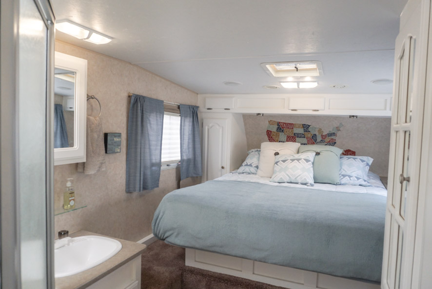 curtains in an RV