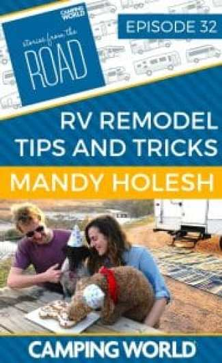 Full-time RVer Mandy Holesh is back on the podcast to talk about her and Kevin's new RV remodel. Kevin is an app developer and Mandy is a photographer and metalsmith. They live with their four pets in a new toyhauler that they ripped to the studs and renovated with their own four hands. The pets didn't even lift a paw to help… #rvlife #rvcampers #rvhack #rvliving #camper#camping #camperlife #happycamper#fulltimerving #fulltimervlife #storiesfromtheroad #digitalnomad #rvdecor#campingdecor