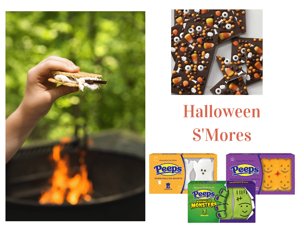 Enjoy Halloween themed smores at your October camping trips.