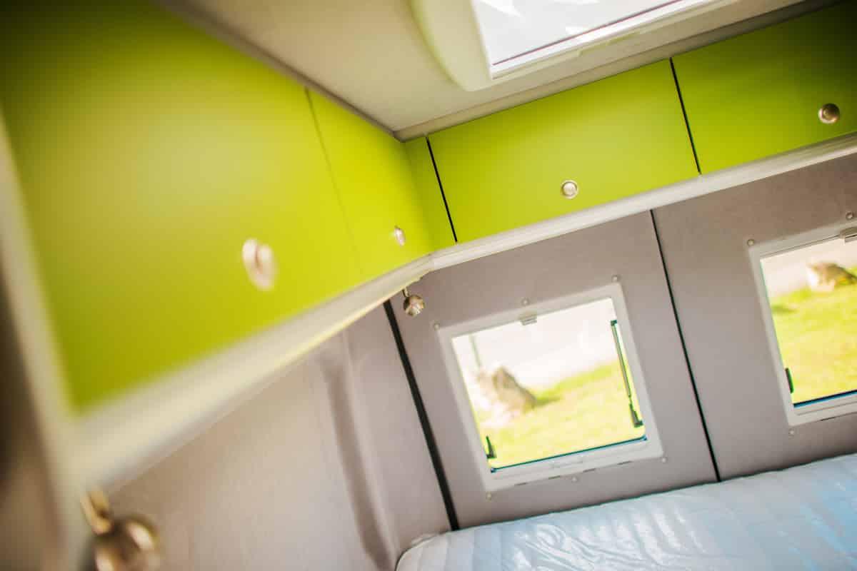 RV Storage Compartments. Modern Camper Van Cabinets.