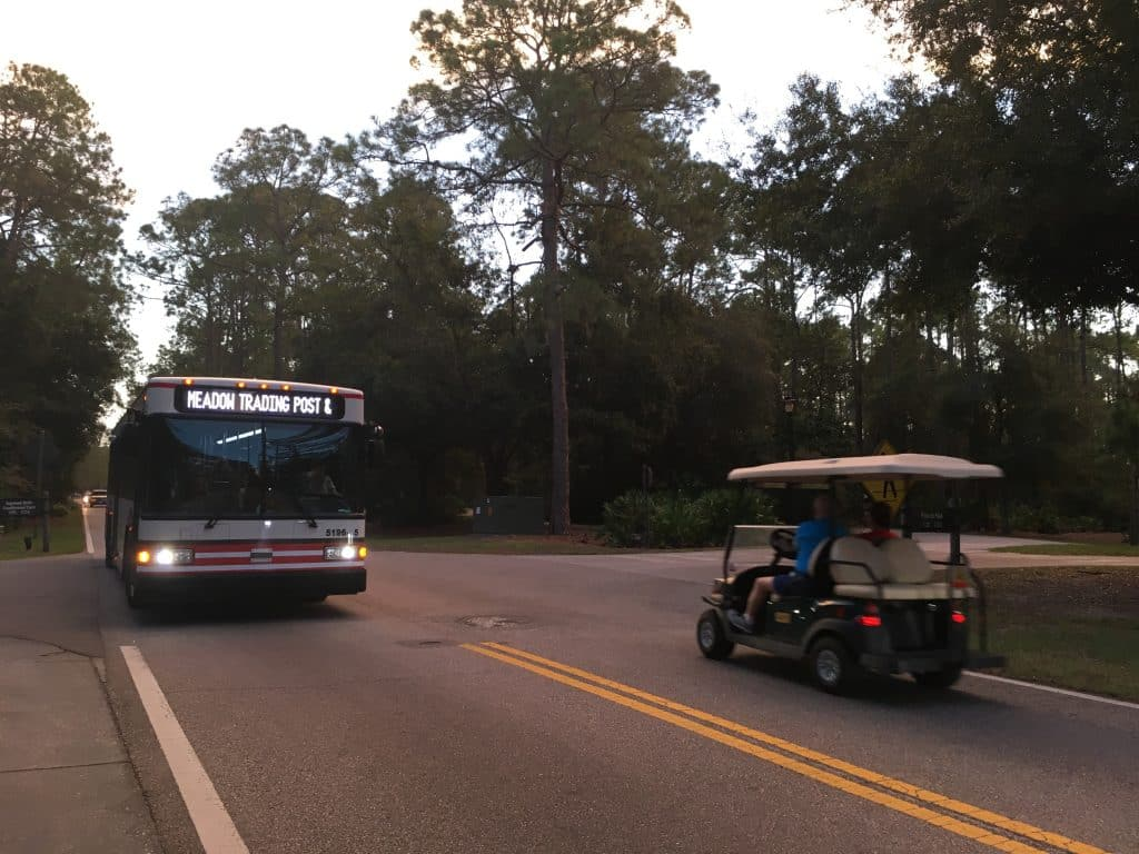 You'll need a bike, golf cart, or ride on 1 of 3 internal bus lines to get to the different sites and amenities within the Fort Wilderness campground.