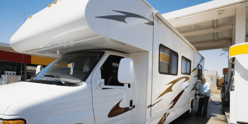Be sure to choose a gas station that your RV can fit in -- both under the overhang and around the pumps.
