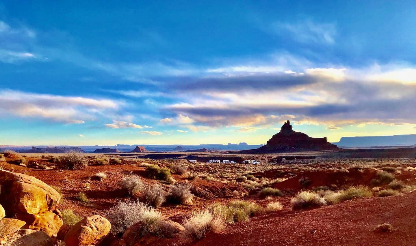 camping in the Valley of the gods Utah