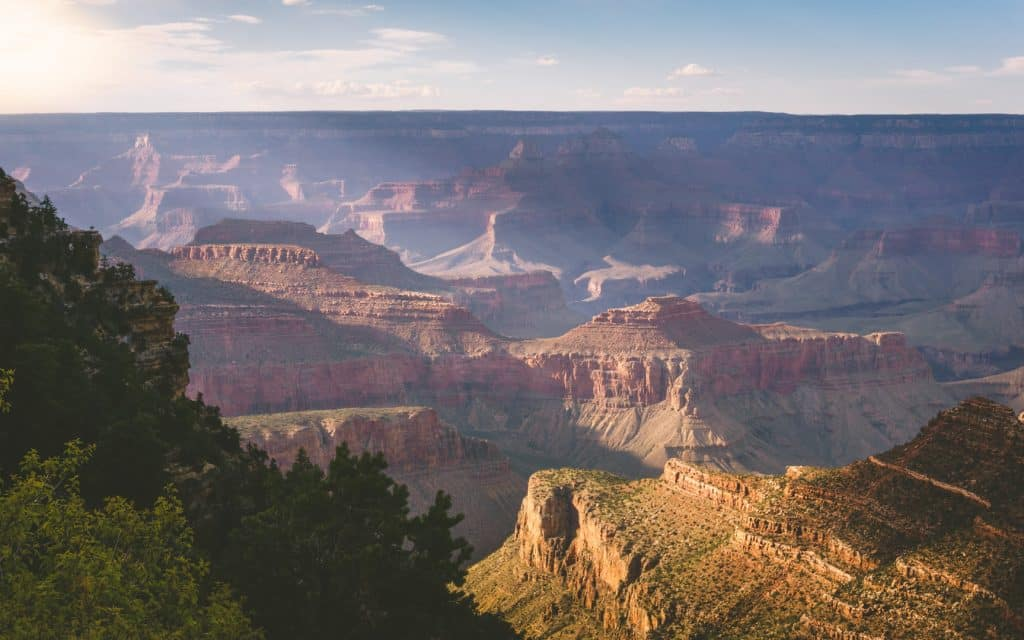The Grand Canyon is a popular summer desert destination.