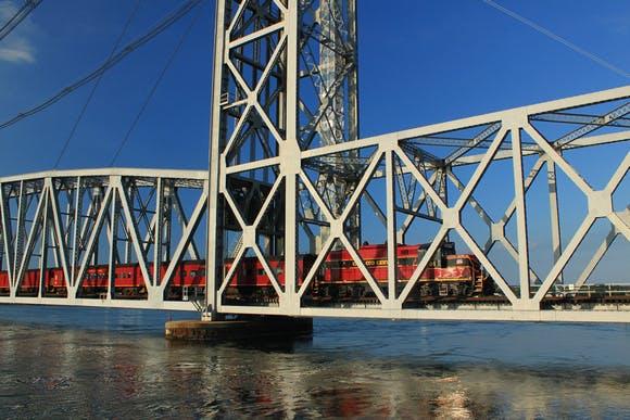 Cape Train Cross a Bridge