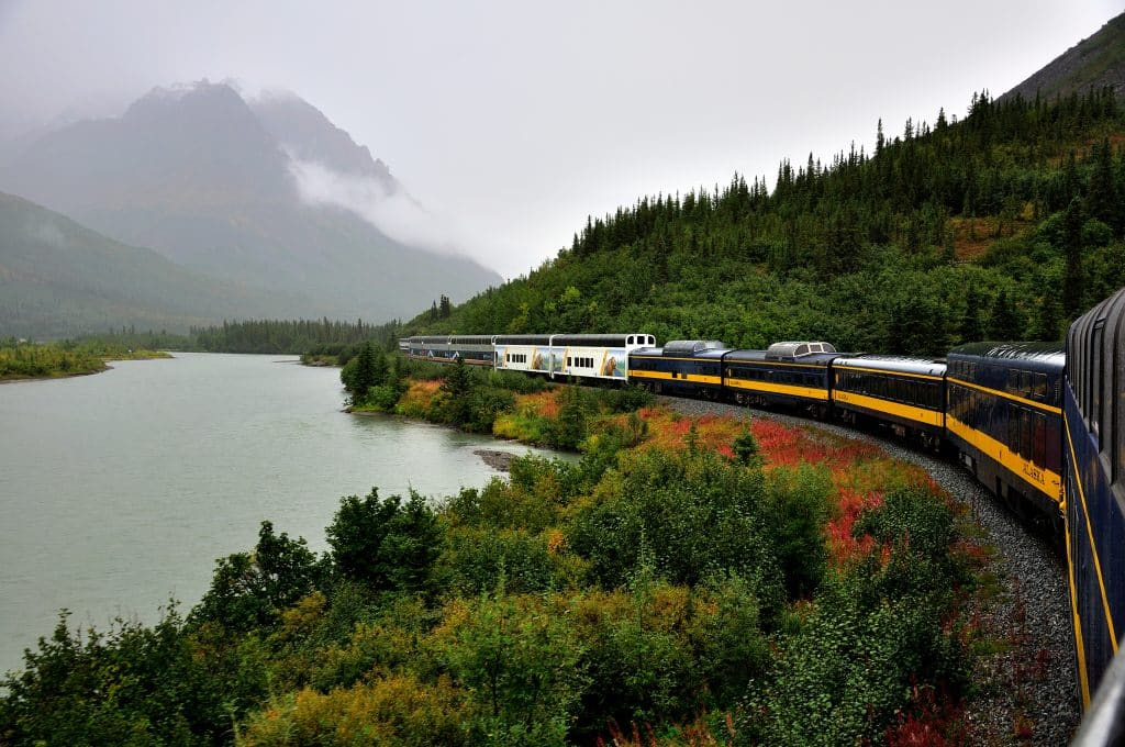 Denali Star Train in Autumn