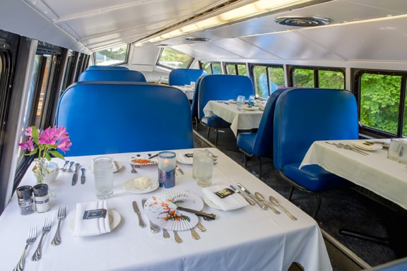 Excursion Trains in New Hampshire - Cafe Lafayette Dining Car