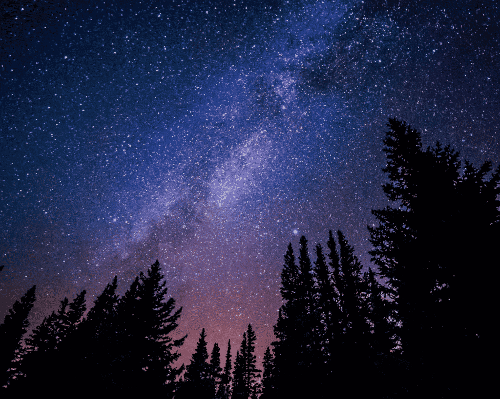 View of the Milky Way over Michigan.