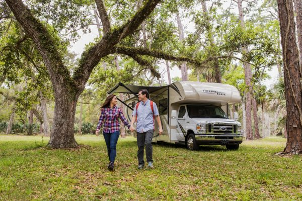 an RVing couple