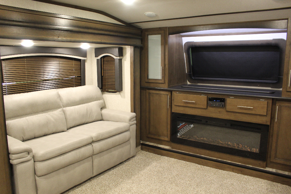 Front Living Area in a Fifth Wheel