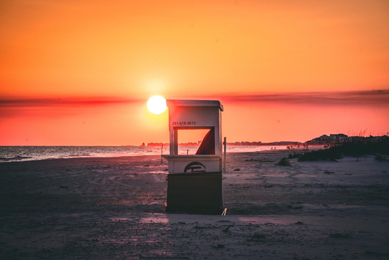 sunset Gulf Shores, Alabama
