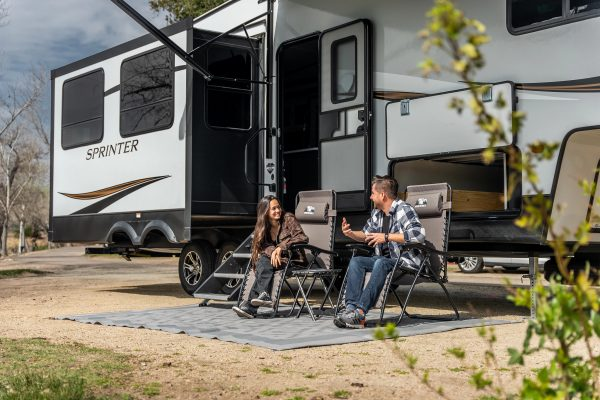 camping at a campground in souther california