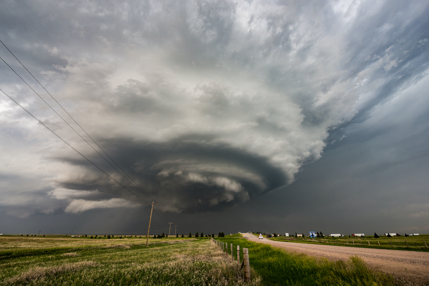 A tornado cell as it begins to form.
