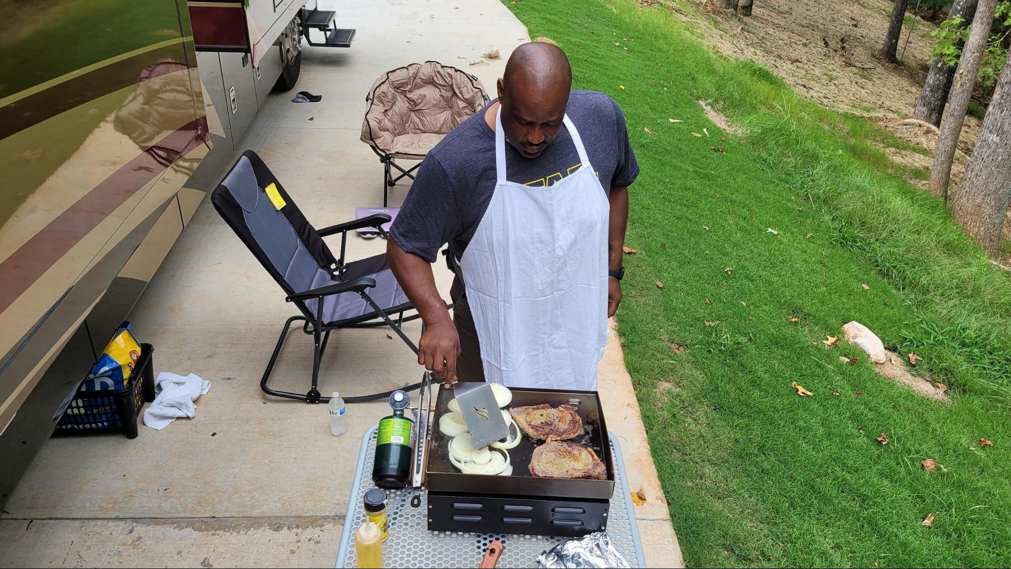 keith sims grilling at rv