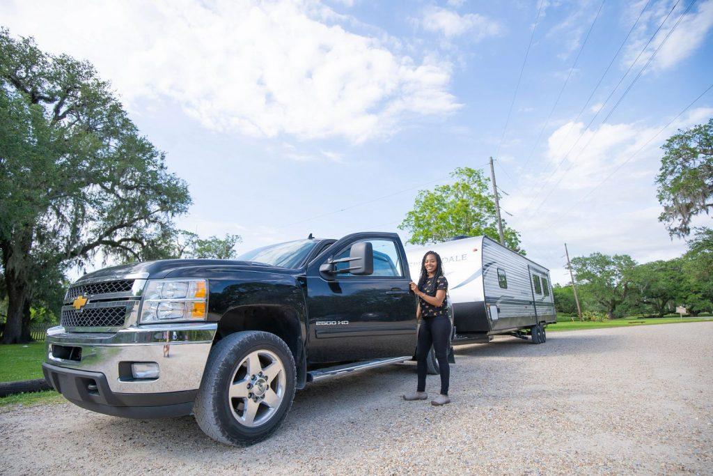 pulling a travel trailer