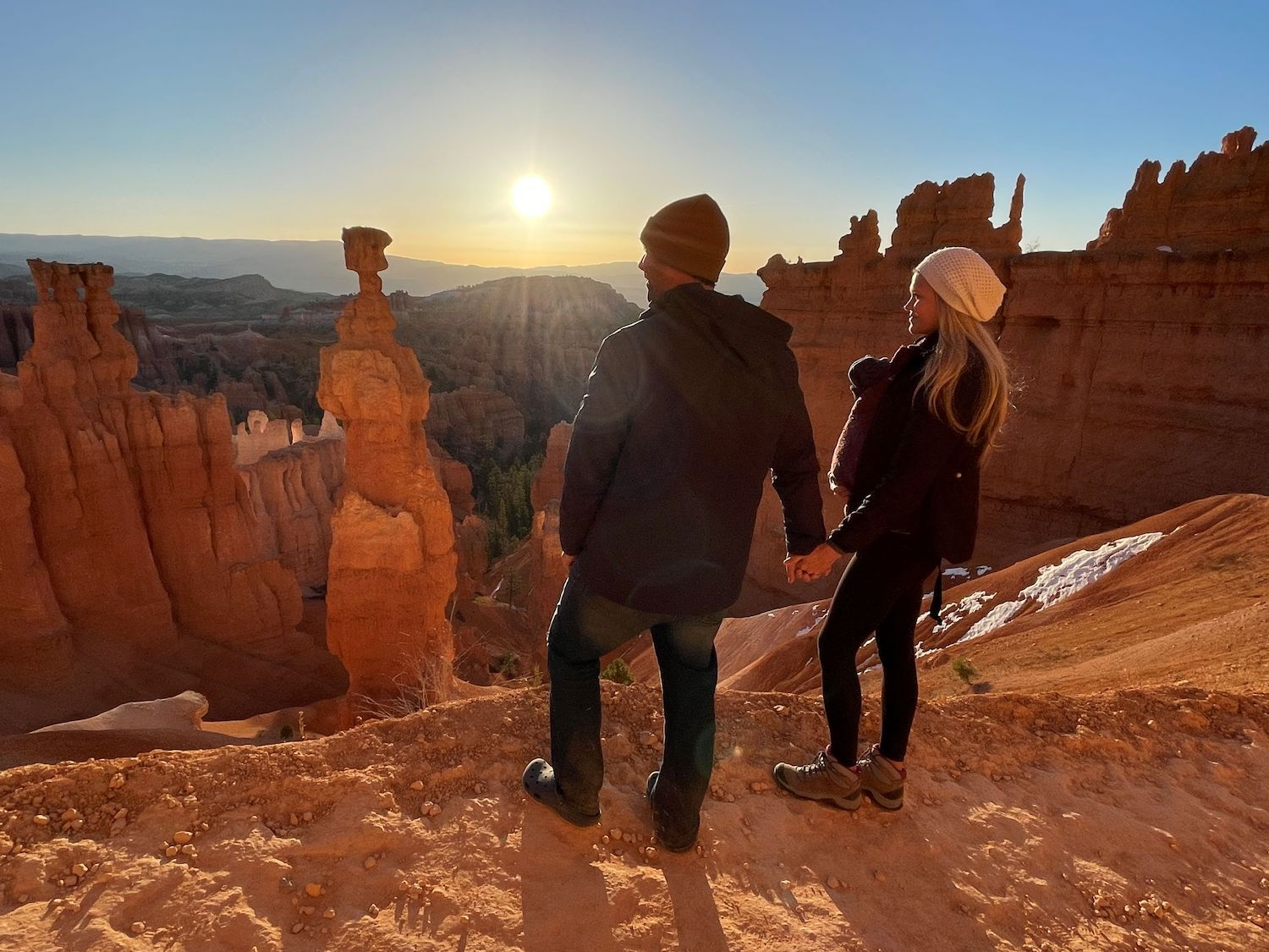 Bryce Canyon with baby