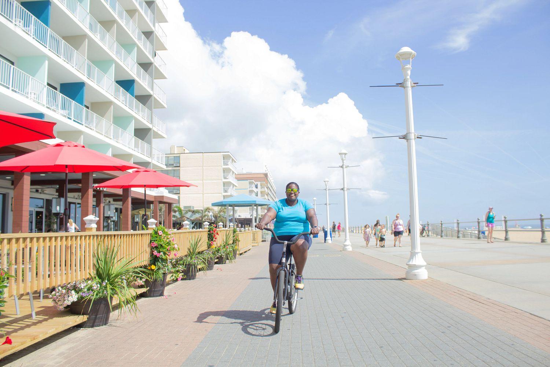 Mirna Valerio rides a bike to explore new places.