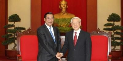 លោក ហ៊ុន សែន និងលោក Nguyen Phu Trong