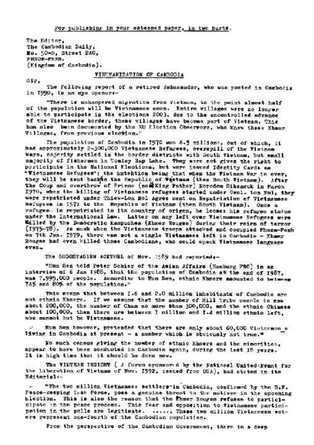KL Bindra - Vietnamization of Cambodia_Page_1