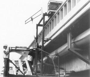 Aluminum Cantilever Pedestrian Bridge Installation