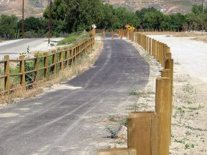Wood fence blends with the natural landscape