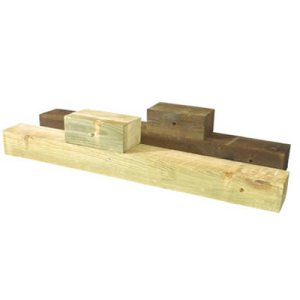 Wood Post and Blocks
