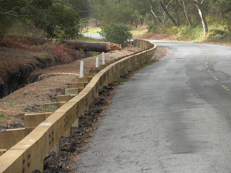 Timber Guardrail Detail