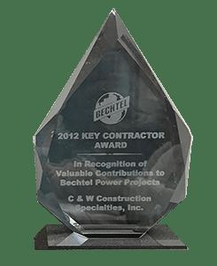 Bechtel Key Contractor Award