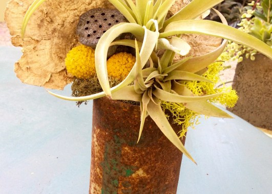 Found object display piece/bouquet