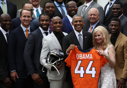 President Obama Welcomes Super Bowl Champion Denver Broncos To White House