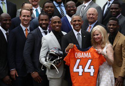 President Obama Welcomes Super Bowl Champion Denver Broncos To White House