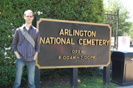 Jeremy at the entrance to the cemetery. At least we found that just fine...