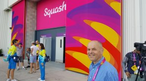 WSF Chief Exec at the Squash