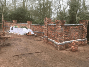 C Whyman Building Services Cannock - Garden Wall